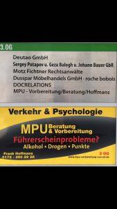 MPU Beratung Hoffman Düsseldorf